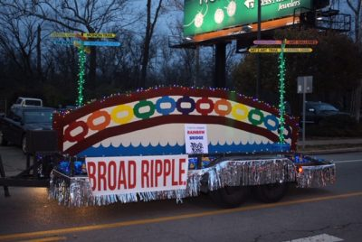 Parade Float for Broad Ripple Lights Up