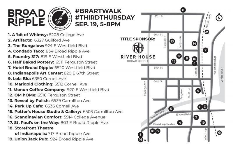 BR Art Walk Map for September 2019