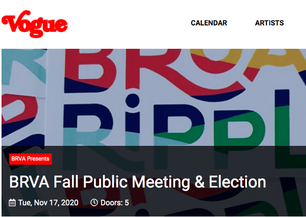 Fall Public Meeting + Election Notice